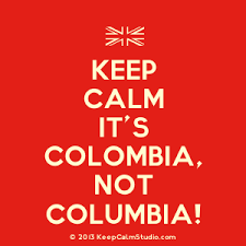 Colombia keep calm red